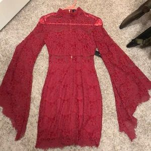 Laces red dress